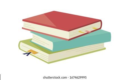 ページ間にしおりを持つ本のイラスト