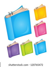illustration of books on a white background