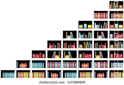 illustration of bookshelf