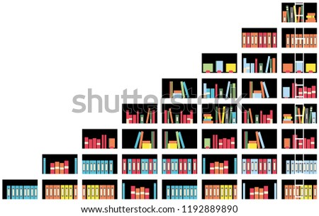 Illustration Bookshelf Stock Vector Royalty Free 1192889890