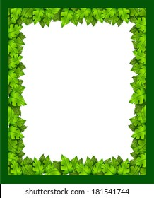 Illustration of a border made of leaves