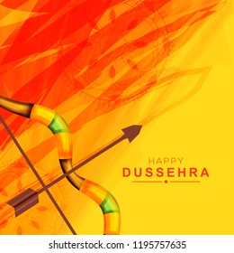Illustration Of Bow And Arrow For Festival Of Happy Dussehra.