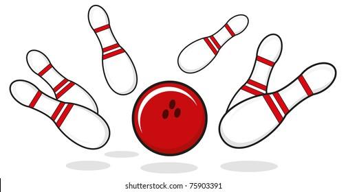 illustration of bowling