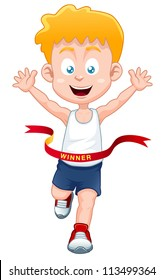 illustration of Boy the winner