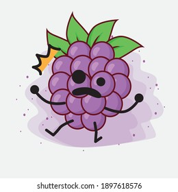 An Illustration of Boysenberry Cute Vector Character