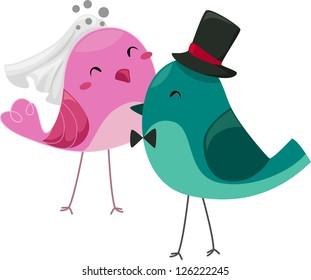 Lovebird Cartoon Images, Stock Photos & Vectors | Shutterstock