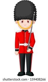 Illustration of a British Royal Guard