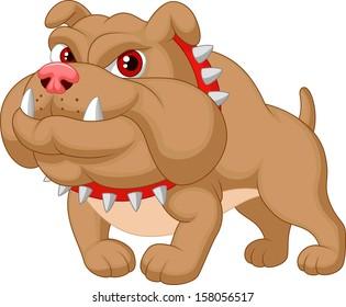 Illustration of bulldog cartoon