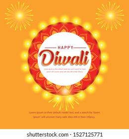 illustration of burning diya for Diwali festival, beautiful header background with lots of lights for celebration of Diwali Indian festival.