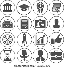 illustration of Business Career Icons