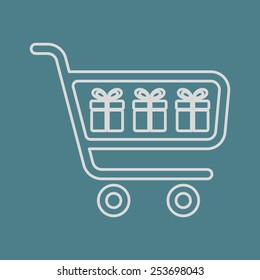 illustration of business and finance icon cart