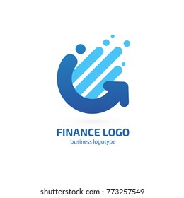 Illustration of business logotype bidding and economic. Vector design logo finance and investment. Graph and chart pictogram, analytic abstract icon