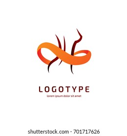 Illustration of business logotype fitness and diet. Vector design logo slim silhouette. Woman pictogram, active lifestyle abstract icon