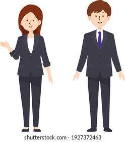 Illustration of business person in a suit