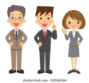 Illustration of a business team.