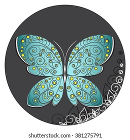 illustration of butterfly with pattern
