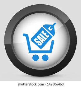 Illustration of buy online concept icon