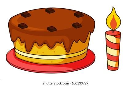 Illustration of cake on a white background
