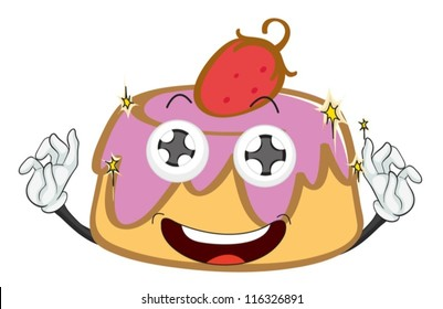 illustration of a cake on a white background