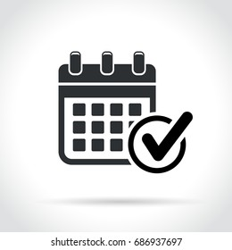 Illustration of calendar with check mark icon