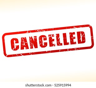 Illustration of cancelled stamp on white background