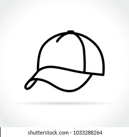 Illustration of cap icon on white background