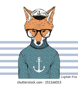 illustration of captain fox