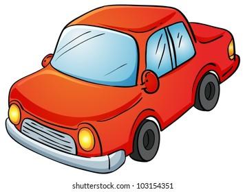 Illustration of a car on white