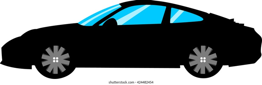 illustration car for print vector isolated white background