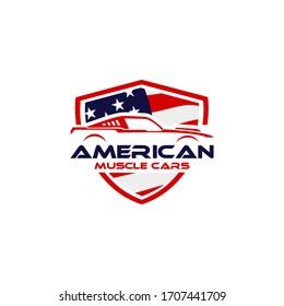 illustration car symbol logo america