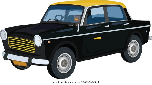Illustration of car taxi vector