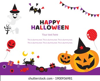 Illustration of the card of the Halloween