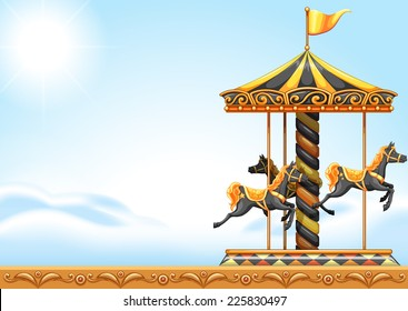 Illustration of a carousel ride