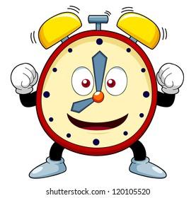 cartoon clock images stock photos vectors shutterstock rh shutterstock com Running Alarm Clock Clip Art Alarm Clock Ringing Clip Art