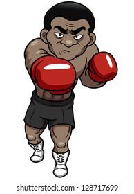 illustration of Cartoon boxer vector