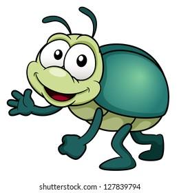 illustration of cartoon bug