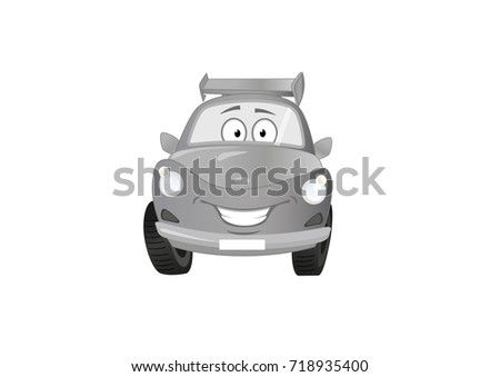 Illustration Cartoon Car Color Gradient Grey Stock Vector Royalty