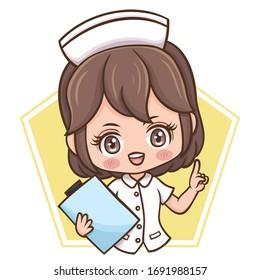 Illustration of cartoon character female nurse