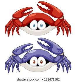 illustration of Cartoon crab vector