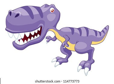illustration of cartoon dinosaur