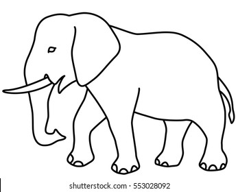 photo about Elephant Outline Printable identify Elephant Determine Shots, Inventory Pictures Vectors Shutterstock