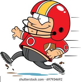 Illustration of a cartoon football player.