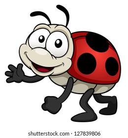 illustration of cartoon Lady bug