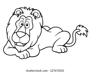 Cartoon Lion Outline Images Stock Photos Vectors Shutterstock Carsharing car rental icon, classic car head, compact car, car whiskers line art mammal sketch, lion outline, horse, white, mammal png. https www shutterstock com image vector illustration cartoon lion coloring book 127673555
