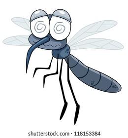 illustration of Cartoon Mosquito