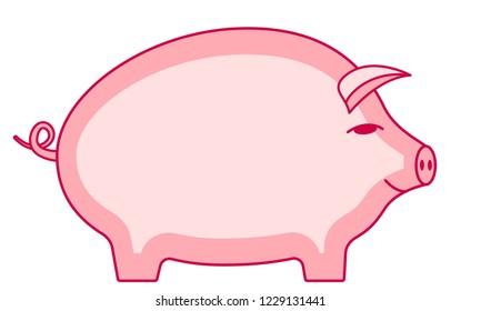 Illustration of the cartoon pig