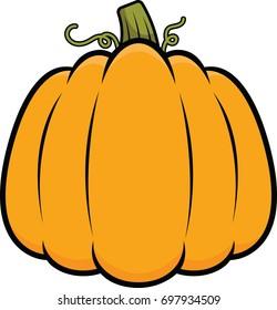 Illustration of a cartoon pumpkin.