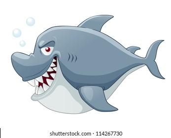 Illustration of Cartoon Shark vector