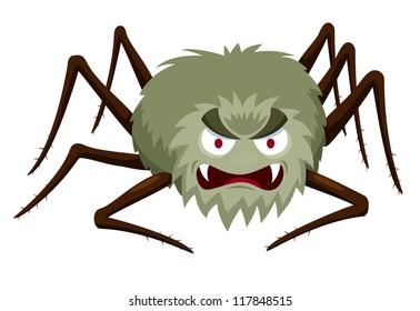 illustration of Cartoon Spider on white