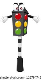 illustration of Cartoon traffic light